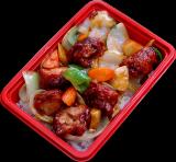 鶏の黒酢炒め丼